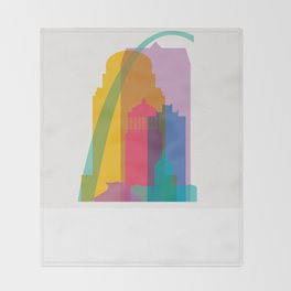 Shapes of St. Louis. Accurate to scale Throw Blanket