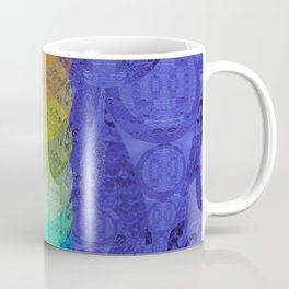 Vibrant Circle Tower Pattern (Indigo) Coffee Mug