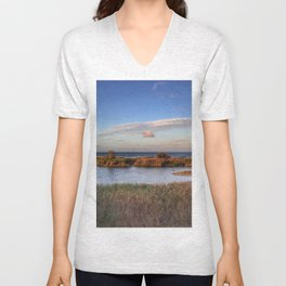 Autumn comes to the beach Unisex V-Neck
