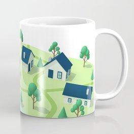 Isometric town illustration. Coffee Mug