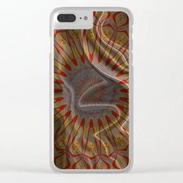 Silk Folding Mandala Texture Flow Boho Tribal Print Clear iPhone Case