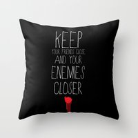 the godfather Throw Pillows featuring GODFATHER QUOTE by Bianca Lopomo