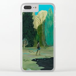 Snake Lake Clear iPhone Case