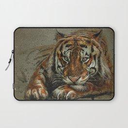Tiger background Laptop Sleeve