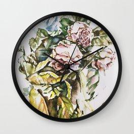 Rosal pastels Wall Clock