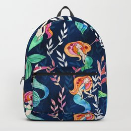 Merry Mermaids in Watercolor Backpack