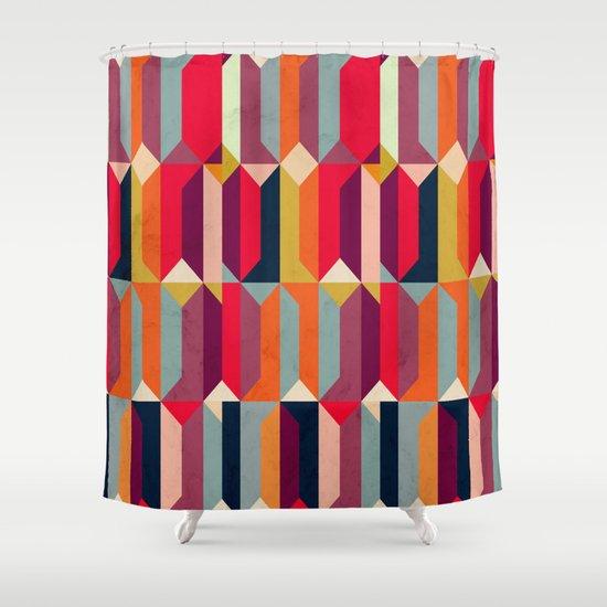 Geometric Icelandic Colors Shower Curtain