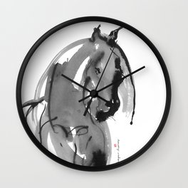 Horse (Juno ver. black) Wall Clock