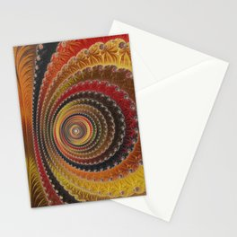 Fall Ripples - Fractal Art Stationery Cards