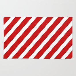 Red Diagonal Stripes Rug