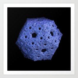 3D Fractal Dodecahedron Art Print