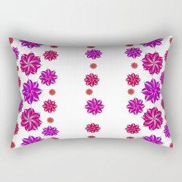 Vertical Stripes Floral Pattern Collage Rectangular Pillow