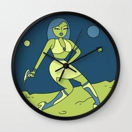 Alien Pinup Wall Clock