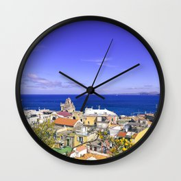 The Pearl Of The Mediterranean Sea Wall Clock