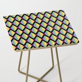 Abstract [RAINBOW] Emeralds pattern Side Table