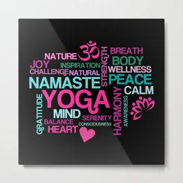 Yoga Benefits for Life Metal Print