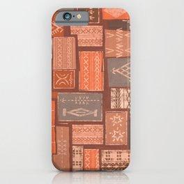 Samoan Malu Mana Tapa Patchwork iPhone Case