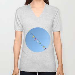 Colorful and minimal party Unisex V-Neck