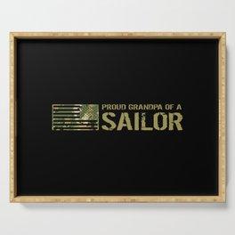 Proud Grandpa of a Sailor Serving Tray
