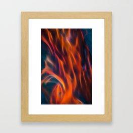 Glowng Orange Fire Framed Art Print