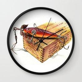 heddon 100 rainbow cup rig 1908 Wall Clock
