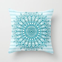 Stripped Mandala Throw Pillow