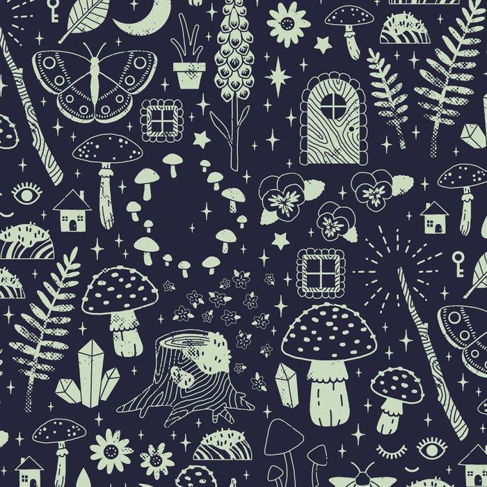 Fairy Garden: Midnight Leggings