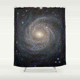 Spiral Galaxy NGC 6814 Shower Curtain
