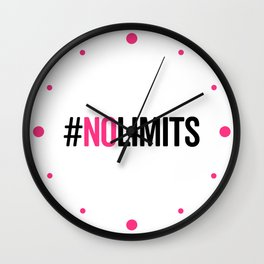 No Limits Gym Quote Wall Clock