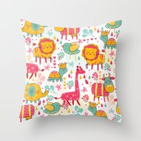 wildlife Throw Pillows featuring Wildlife by One April