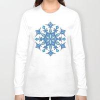 sacred geometry Long Sleeve T-shirts featuring Sacred Geometry Snowflake Mandala by Jam.