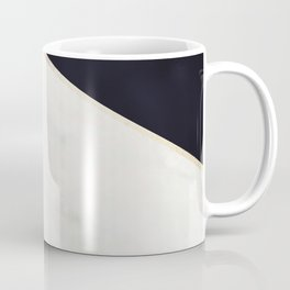 Elegant Black and Faux Gold Abstract Design Coffee Mug