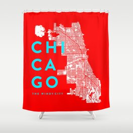 Chicago Map Shower Curtain