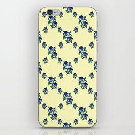 Pansy lattice - Yellow iPhone Skin