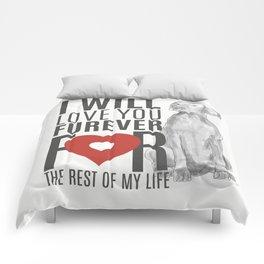 LOVE YOU FUREVER Comforters