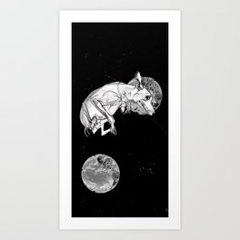 Dogs In Space Art Print
