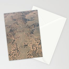 Mojave Desert bird's eye view Stationery Cards
