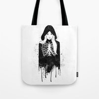 bones Tote Bags featuring Bones by Jaaaiiro