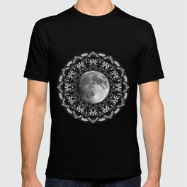SILVER MOON MANDALA T-shirt