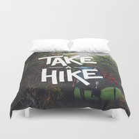 backpack Duvet Covers featuring Take A Hike by Zeke Tucker