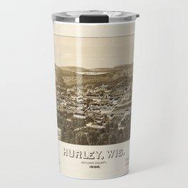 Aerial View of Hurley, Wisconsin (1886) Travel Mug