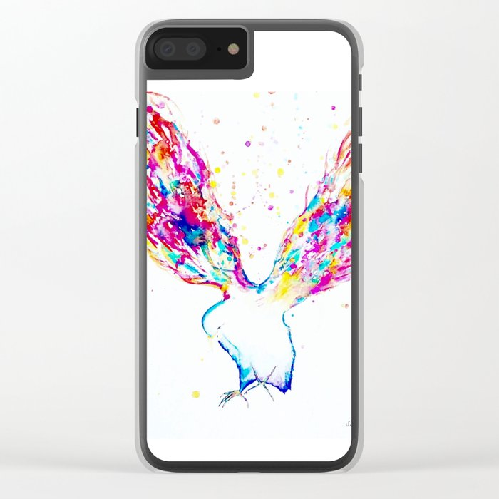 Rainbow Wings Clear iPhone Case