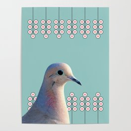 Dove Minimalist Floral Pattern Montage Poster