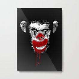 Evil Monkey Clown Metal Print