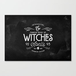 The Witches guide to spells Canvas Print