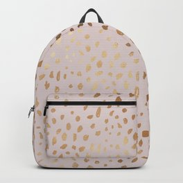 Elegant blush pink faux gold modern glam glow confetti Backpack