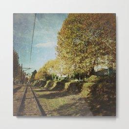 Railway line Metal Print
