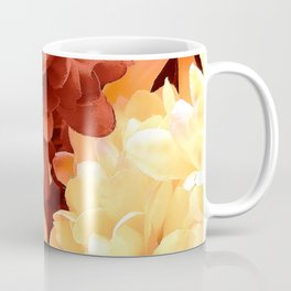 Vibrant Red And Yellow Happy Floral Close-Up Coffee Mug