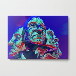 Faces of Anger Metal Print