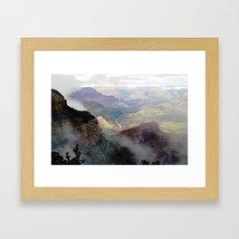 Cloudy Grand Canyon I Framed Art Print